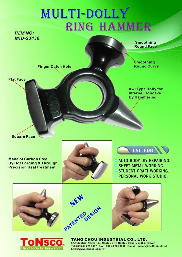 Auto Body Repair Multi Dolly Ring Hammer